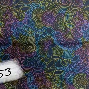 Andover Fabrics, Art Theory, Rainbow Stitched