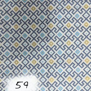 Lewis and Irene, Lindos, Greek Tiles - Dark Blue - with with metallic golden details