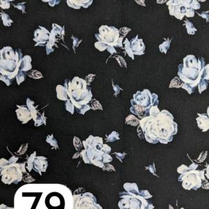 Liberty Lasenby Cotton, The Emporium, Regent Rose, Charcoal (C)
